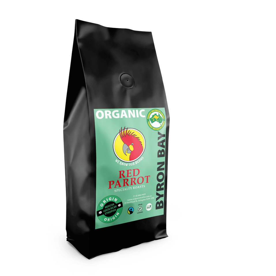Byron Bay Organic Coffee by Red parrot