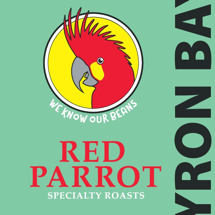 Red Parrot premium coffee - Byron Bay blend