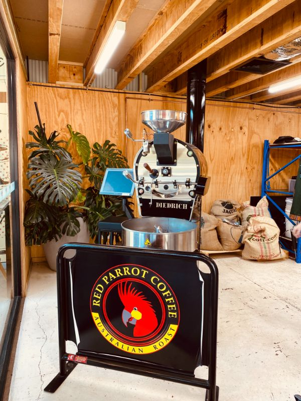 Coffee Bean Roasting in Red Parrot Coffee headquarters, Newcastle