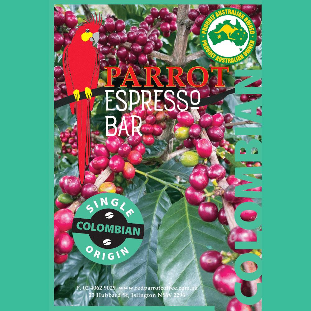 Colombia Single Origin coffee label square
