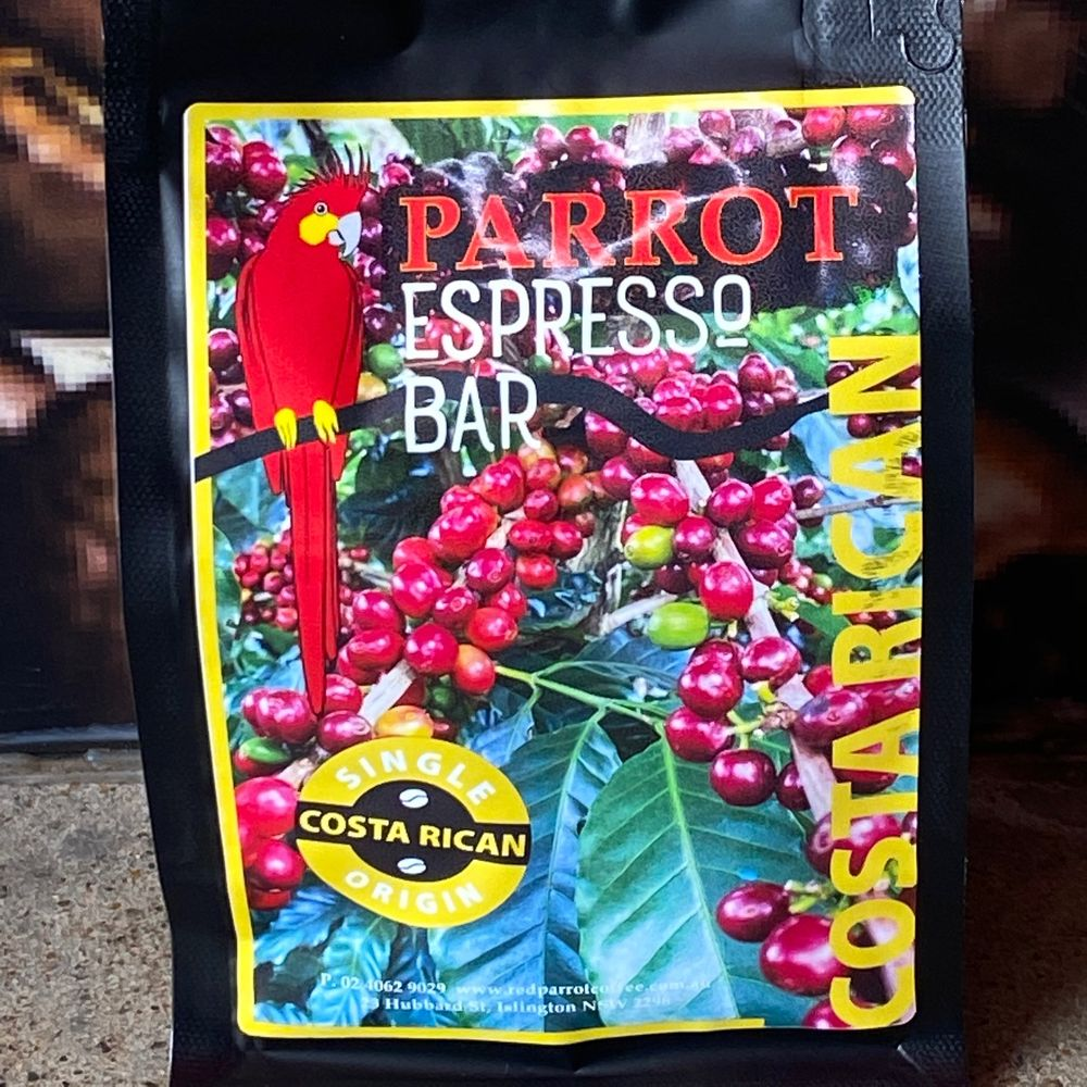 Red Parrot Single Origin coffee from Costa Rica