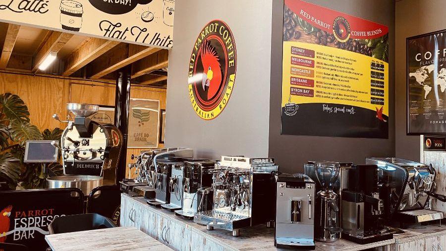Home Espresso Coffee Machines in showroom