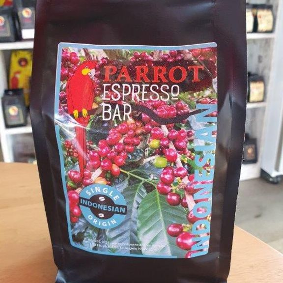 Red Parrot Single Origin coffee from Indonesia
