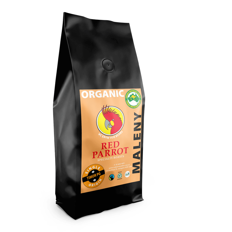 Maleny Organic Coffee by Red Parrot