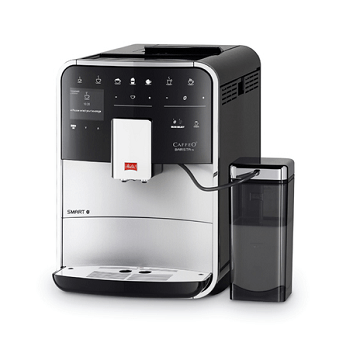 Melitta Caffeo Barista TS home coffee machine in silver