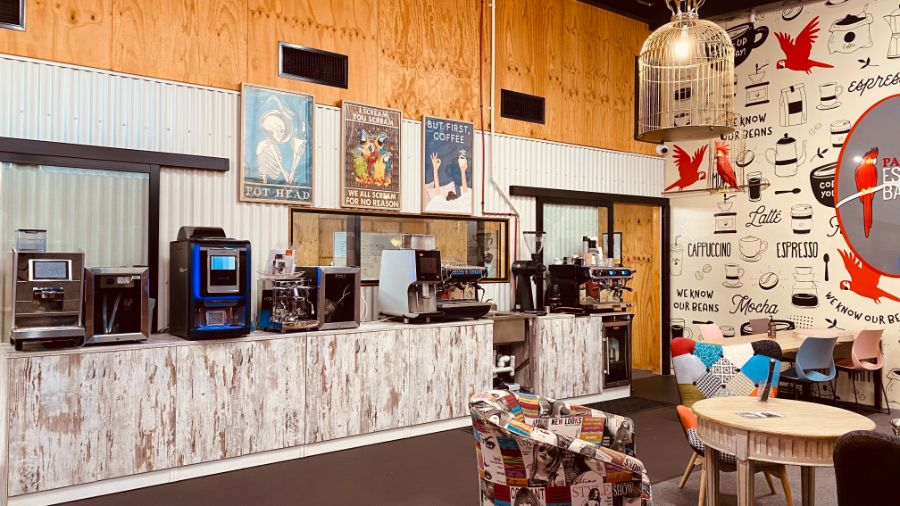 Office Espresso and Hotel Coffee Machines in showroom