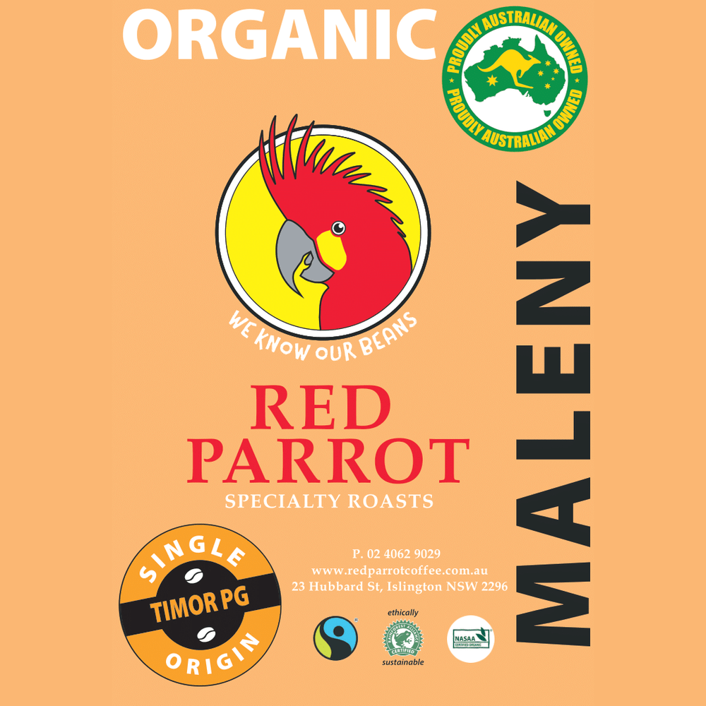 Maleny organic, fair trade and Rainforest Alliance certified coffee beans
