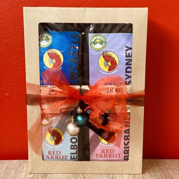 Gift pack with 4 varieties of premium coffee beans