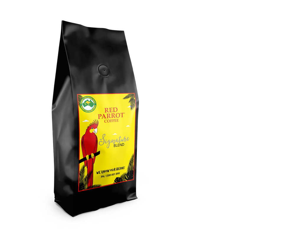 Signature blend coffee by Red Parrot