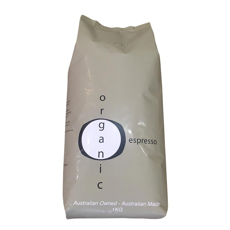 Organic espresso coffee beans